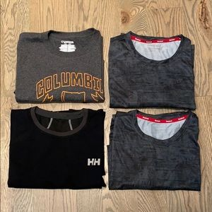 Columbia, Helly Hanson, Reebok T-shirt Bundle